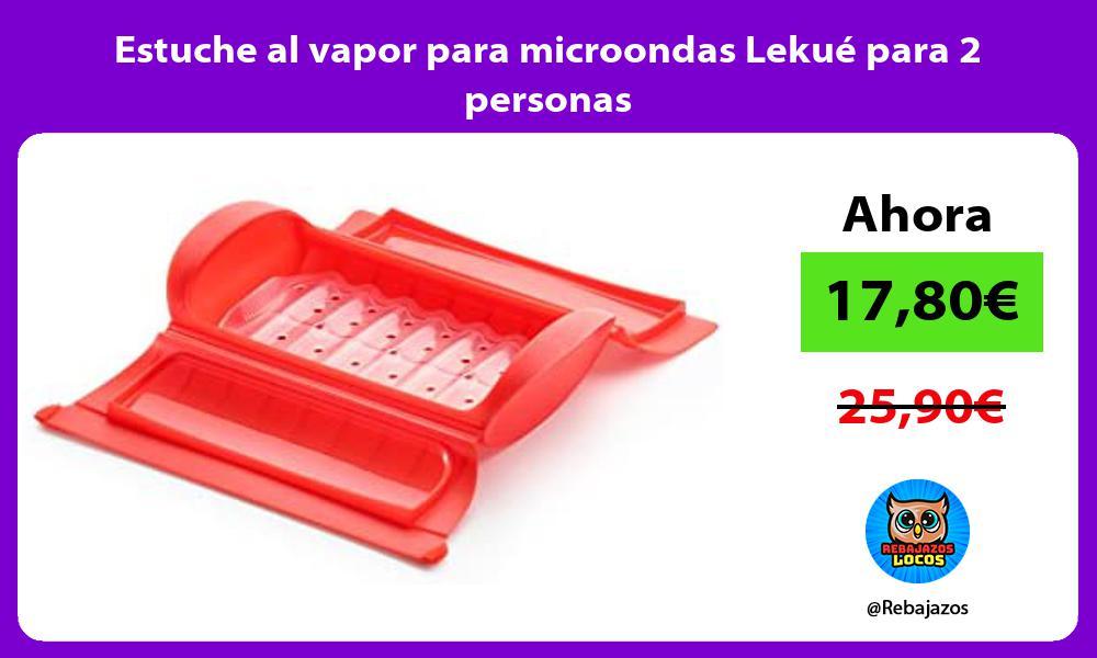 Estuche al vapor para microondas Lekue para 2 personas