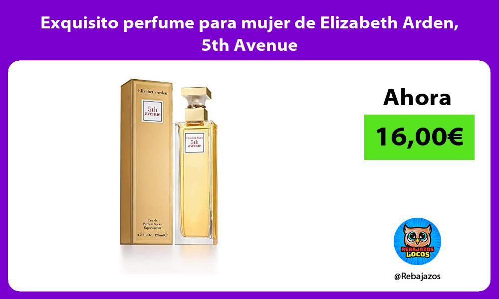 Exquisito perfume para mujer de Elizabeth Arden 5th Avenue