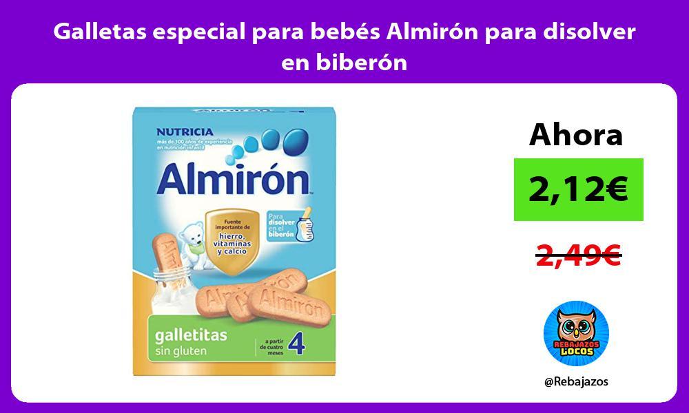 Galletas especial para bebes Almiron para disolver en biberon
