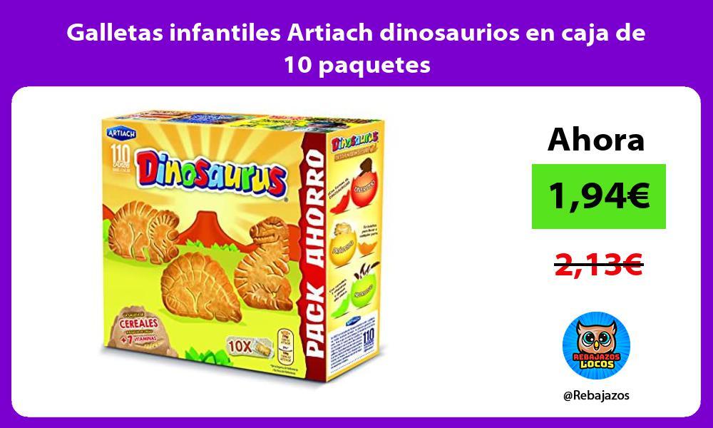 Galletas infantiles Artiach dinosaurios en caja de 10 paquetes