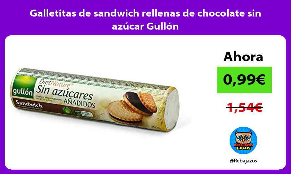 Galletitas de sandwich rellenas de chocolate sin azucar Gullon