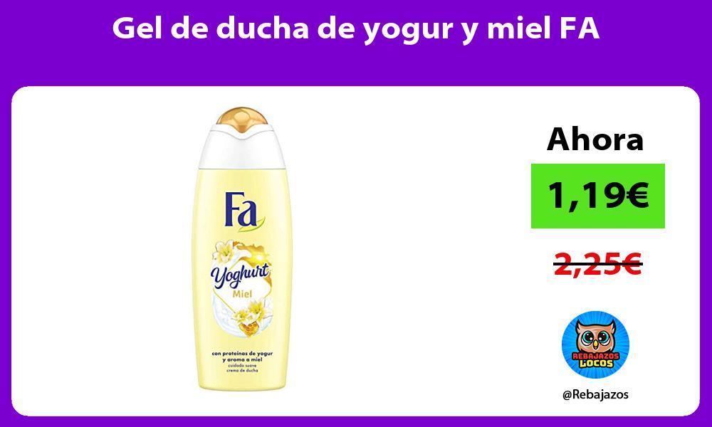 Gel de ducha de yogur y miel FA