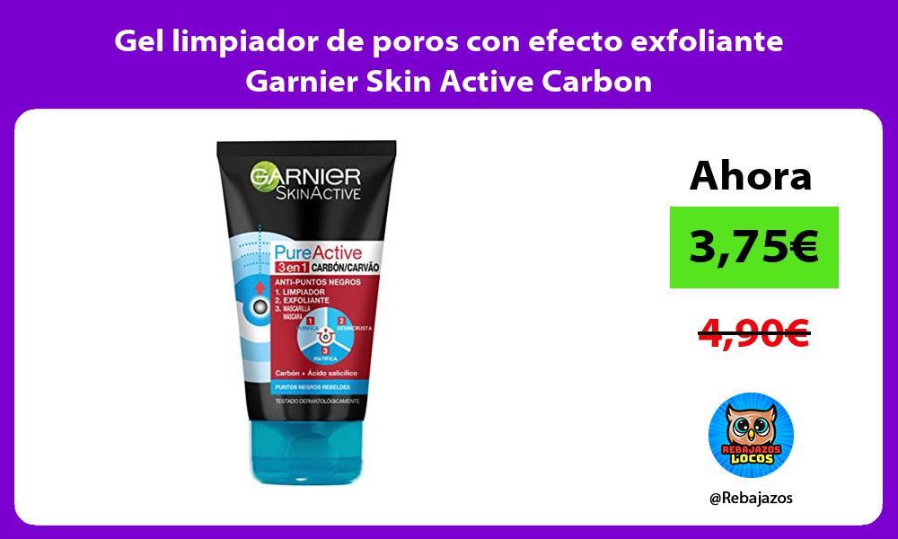 Gel limpiador de poros con efecto exfoliante Garnier Skin Active Carbon