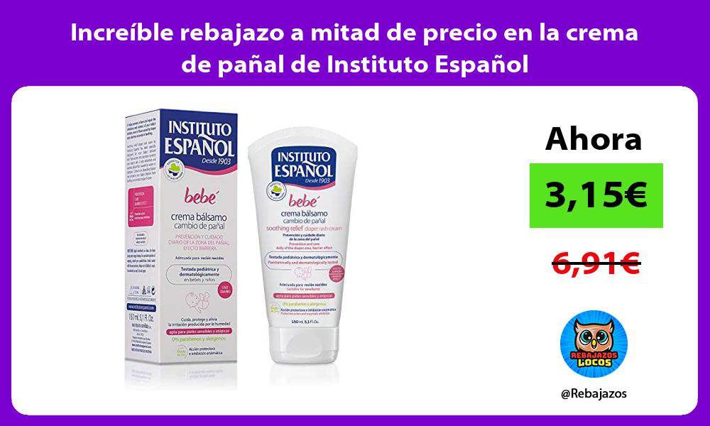 Increible rebajazo a mitad de precio en la crema de panal de Instituto Espanol