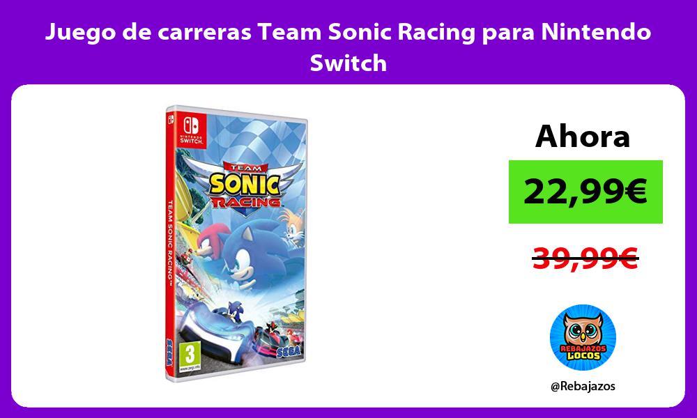 Juego de carreras Team Sonic Racing para Nintendo Switch