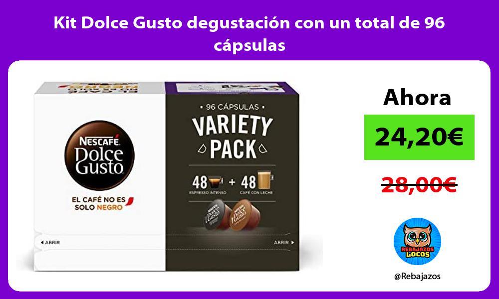 Kit Dolce Gusto degustacion con un total de 96 capsulas
