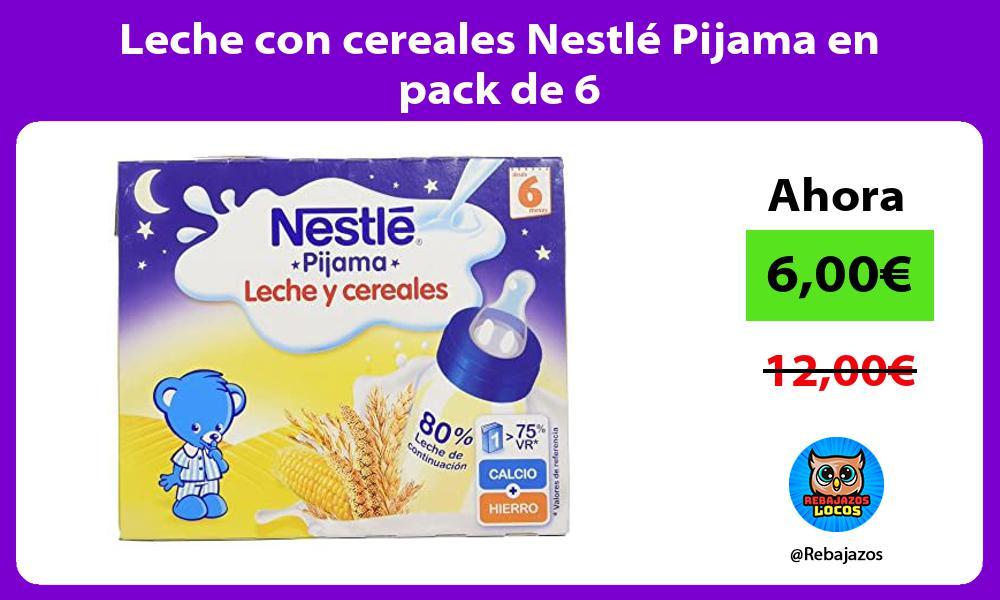 Leche con cereales Nestle Pijama en pack de 6