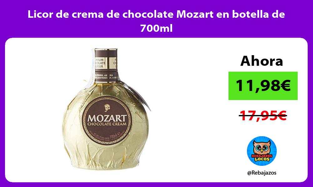 Licor de crema de chocolate Mozart en botella de 700ml