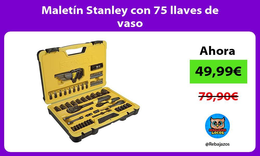Maletin Stanley con 75 llaves de vaso