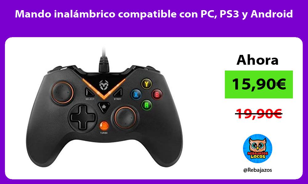 Mando inalambrico compatible con PC PS3 y Android