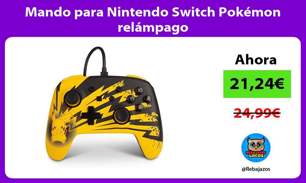 Mando para Nintendo Switch Pokemon relampago