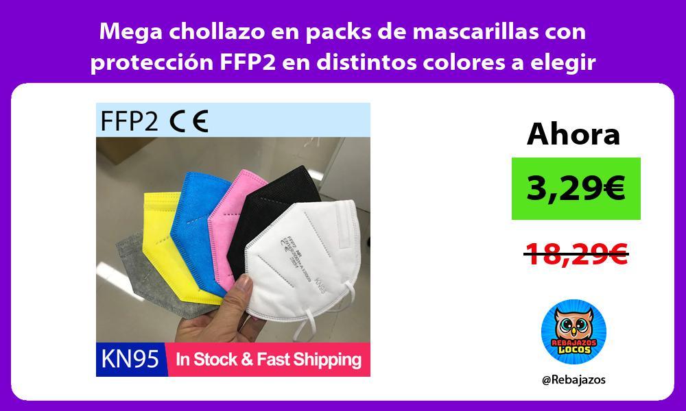 Mega chollazo en packs de mascarillas con proteccion FFP2 en distintos colores a elegir