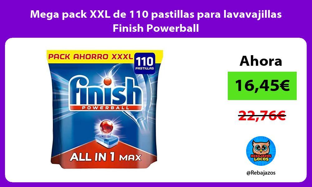 Mega pack XXL de 110 pastillas para lavavajillas Finish Powerball