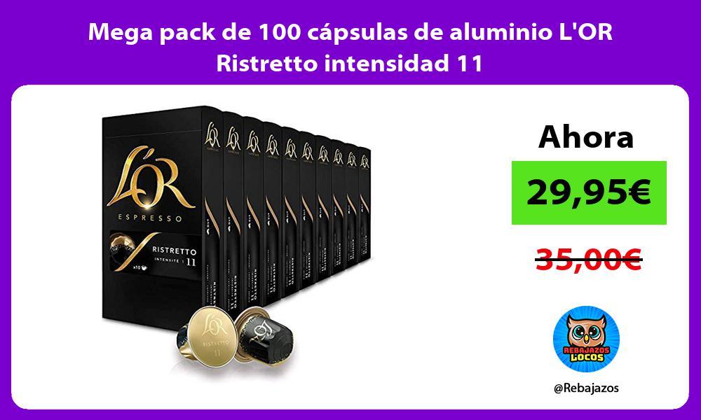 Mega pack de 100 capsulas de aluminio LOR Ristretto intensidad 11