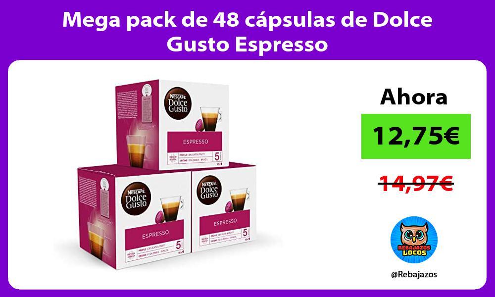 Mega pack de 48 capsulas de Dolce Gusto Espresso