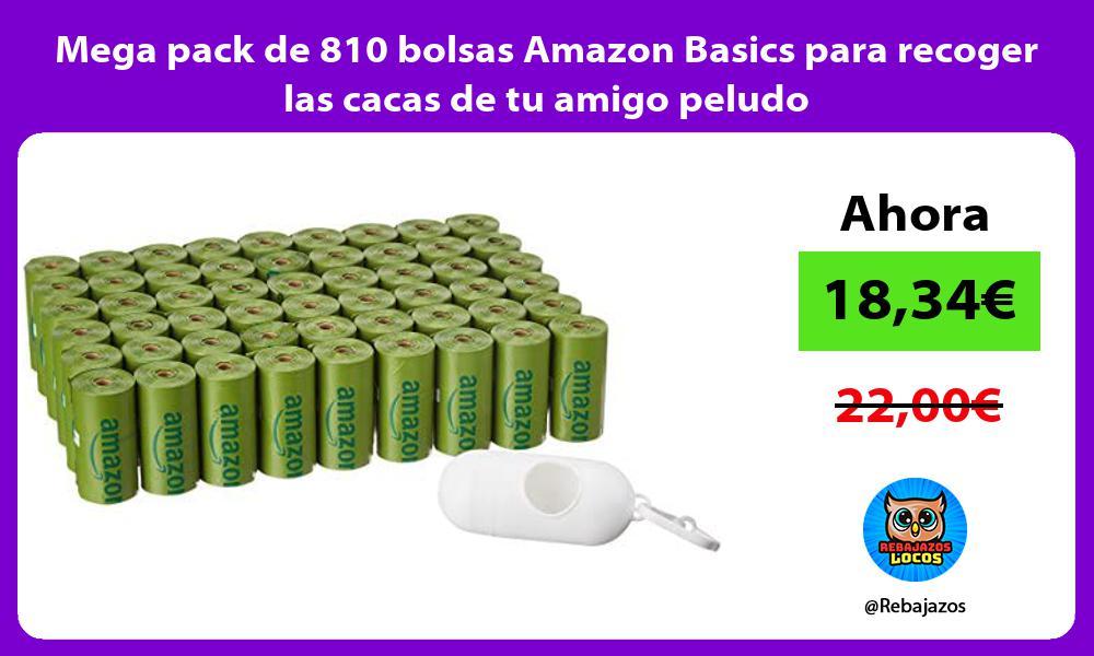 Mega pack de 810 bolsas Amazon Basics para recoger las cacas de tu amigo peludo