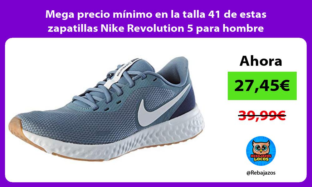 Mega precio minimo en la talla 41 de estas zapatillas Nike Revolution 5 para hombre
