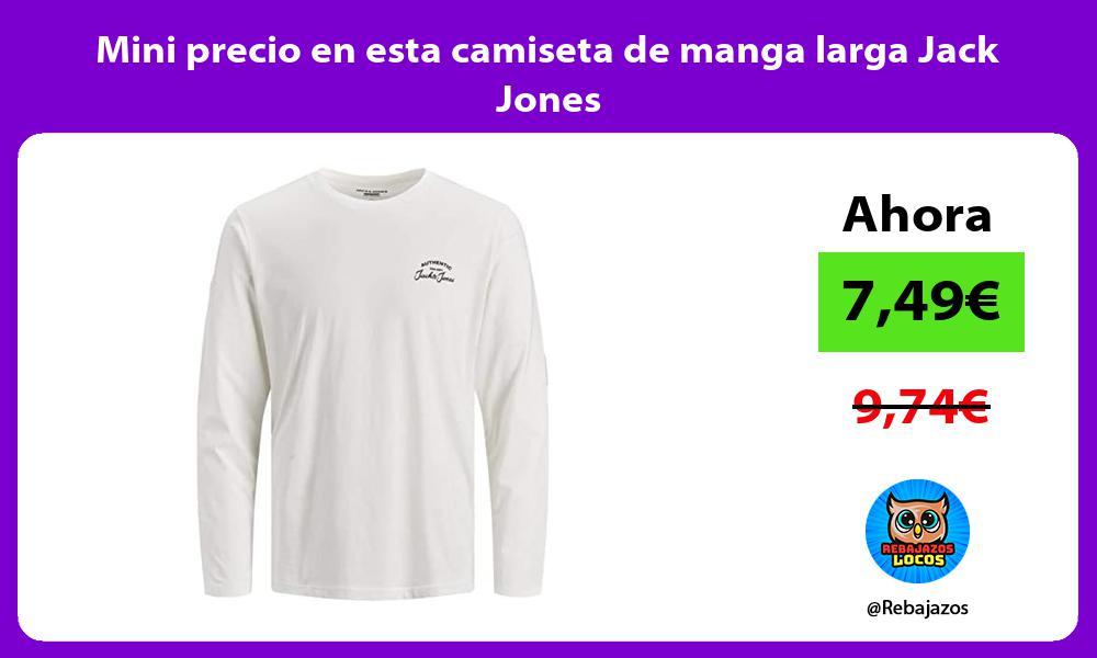 Mini precio en esta camiseta de manga larga Jack Jones
