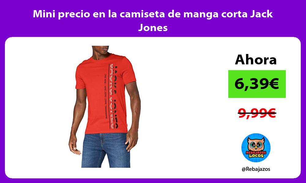 Mini precio en la camiseta de manga corta Jack Jones