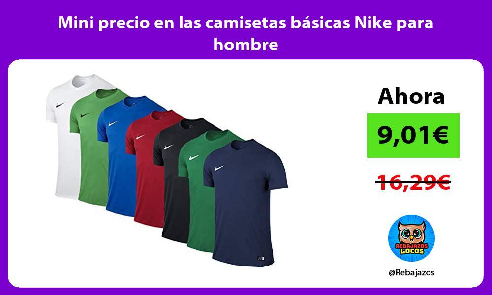 Mini precio en las camisetas basicas Nike para hombre