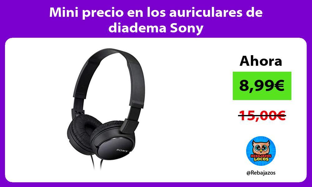 Mini precio en los auriculares de diadema Sony