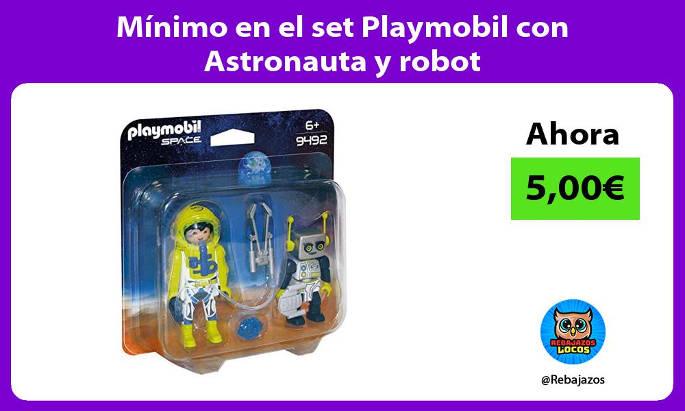 Minimo en el set Playmobil con Astronauta y robot