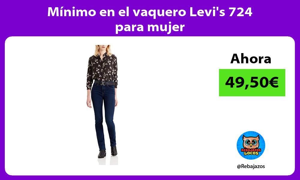Minimo en el vaquero Levis 724 para mujer