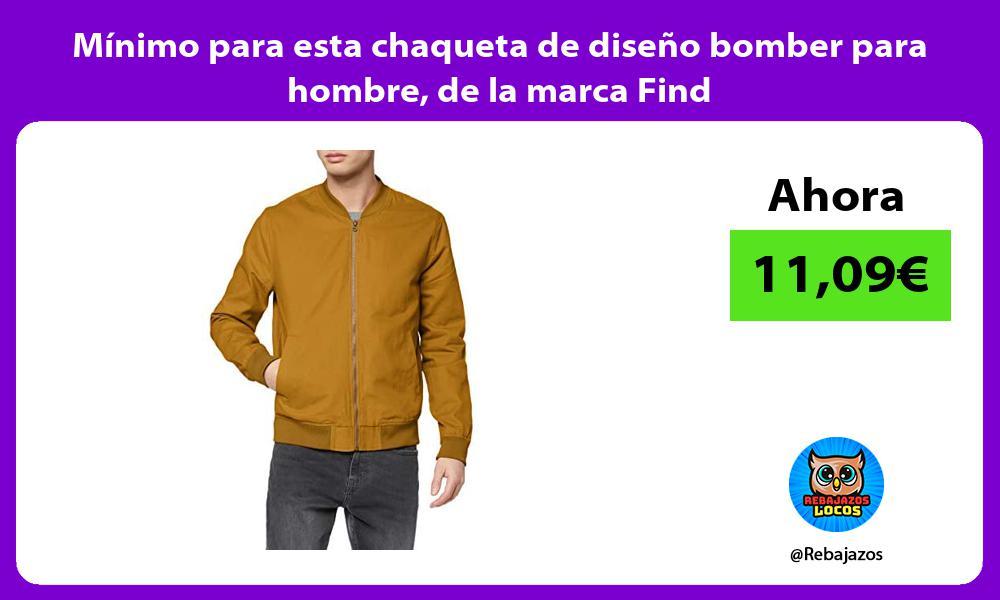 Minimo para esta chaqueta de diseno bomber para hombre de la marca Find