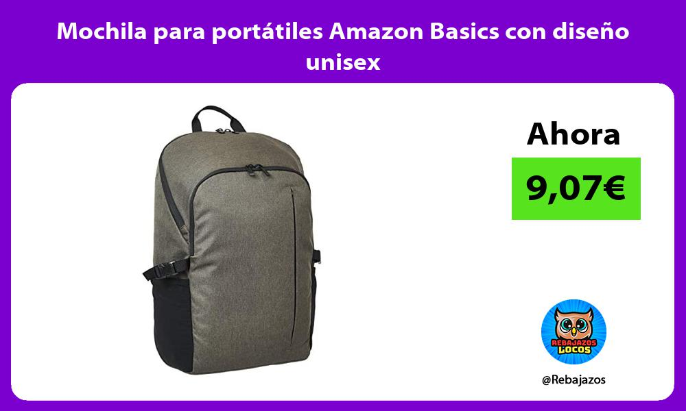 Mochila para portatiles Amazon Basics con diseno unisex