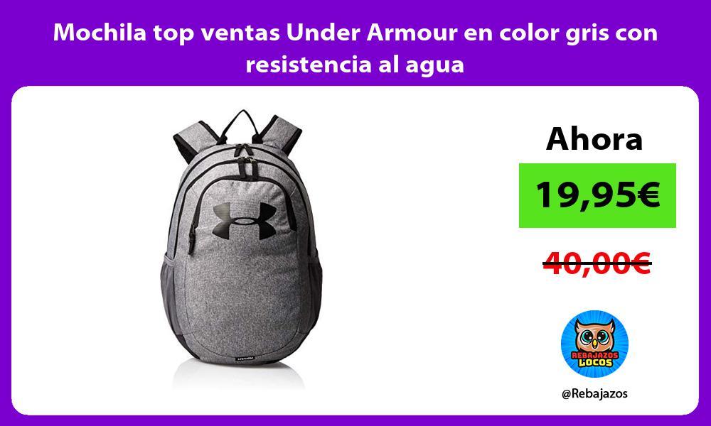 Mochila top ventas Under Armour en color gris con resistencia al agua
