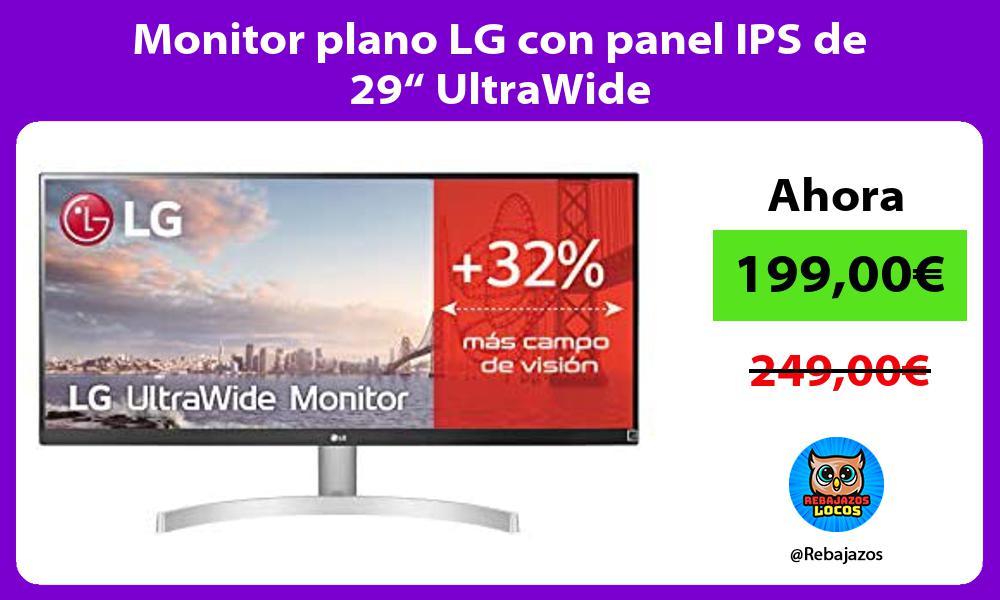 Monitor plano LG con panel IPS de 29 UltraWide