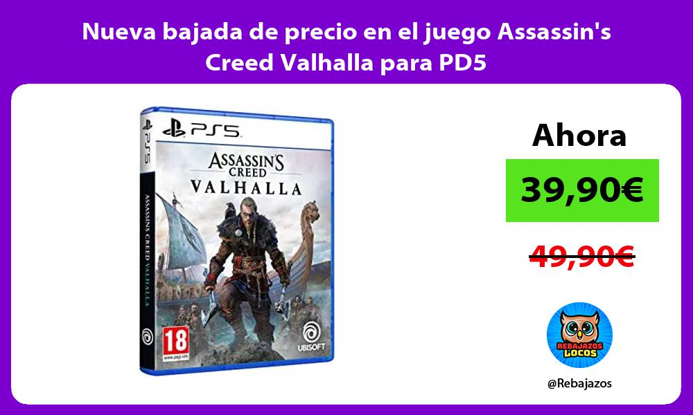 Nueva bajada de precio en el juego Assassins Creed Valhalla para PD5
