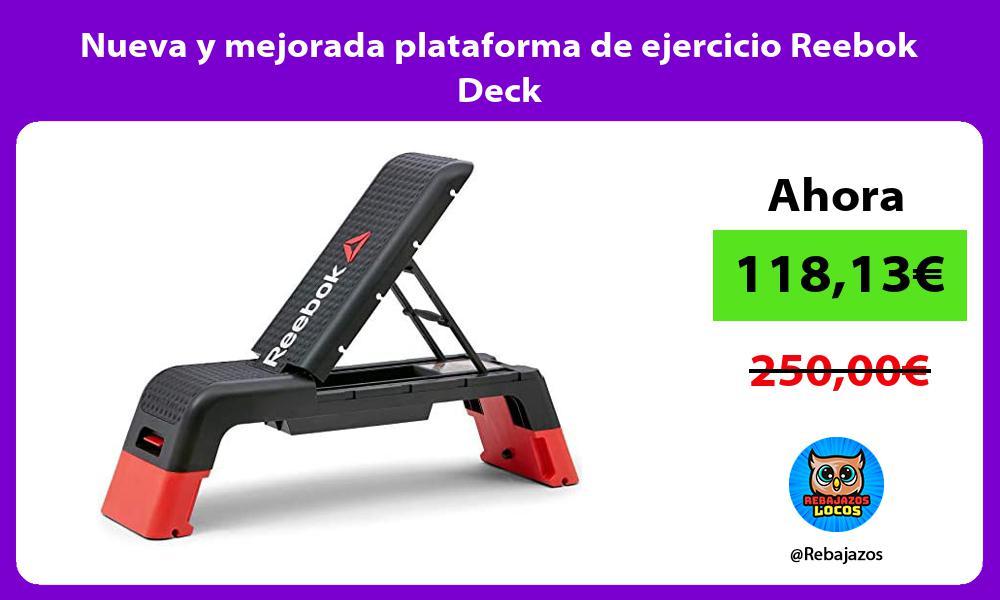Nueva y mejorada plataforma de ejercicio Reebok Deck