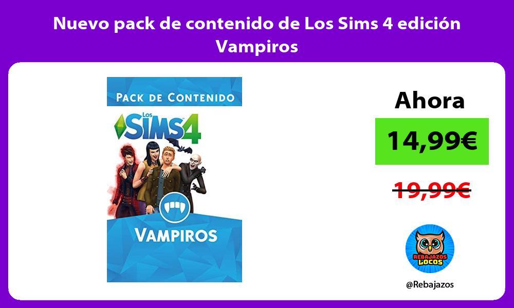 Nuevo pack de contenido de Los Sims 4 edicion Vampiros