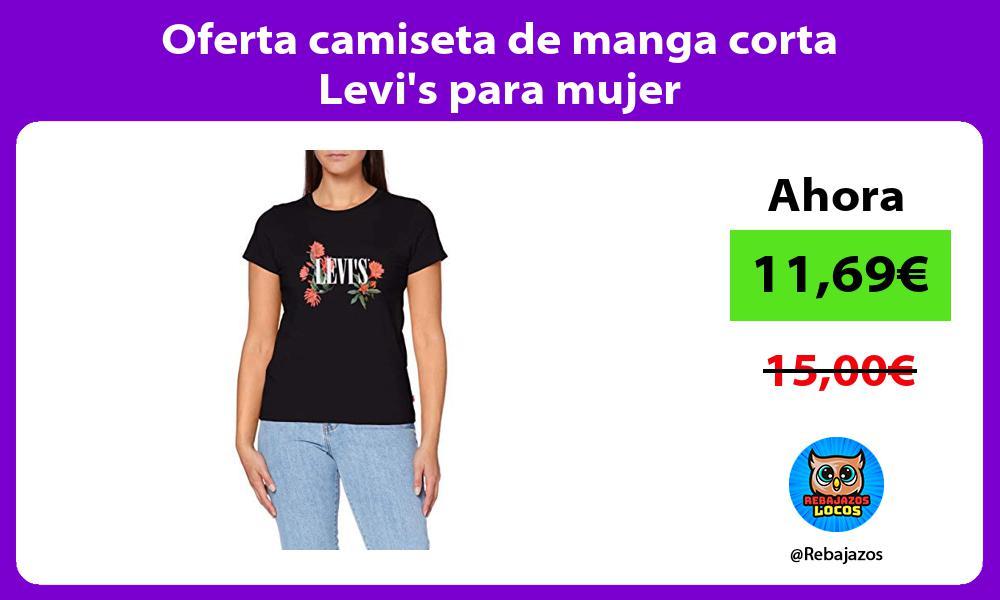 Oferta camiseta de manga corta Levis para mujer