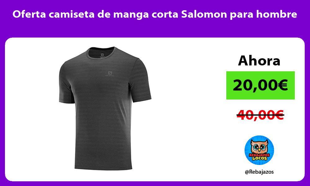 Oferta camiseta de manga corta Salomon para hombre