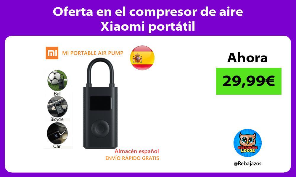 Oferta en el compresor de aire Xiaomi portatil