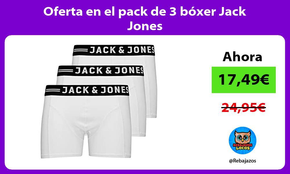 Oferta en el pack de 3 boxer Jack Jones