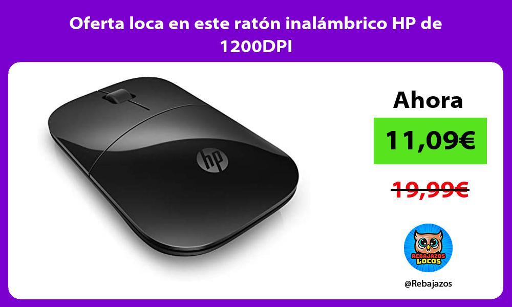 Oferta loca en este raton inalambrico HP de 1200DPI