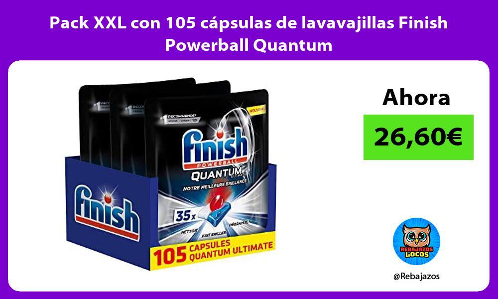 Pack XXL con 105 capsulas de lavavajillas Finish Powerball Quantum