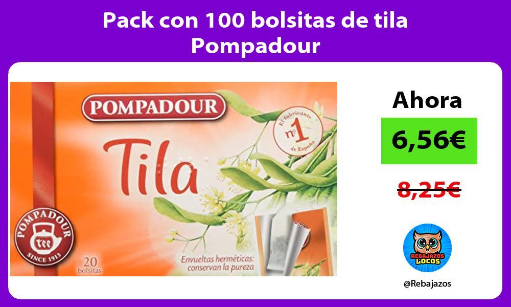 Pack con 100 bolsitas de tila Pompadour