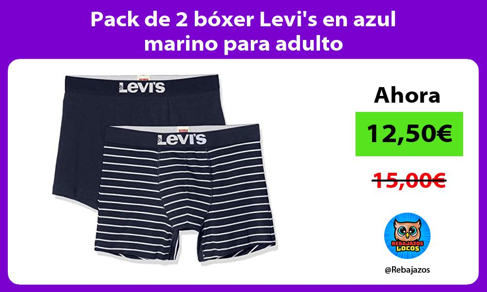 Pack de 2 boxer Levis en azul marino para adulto