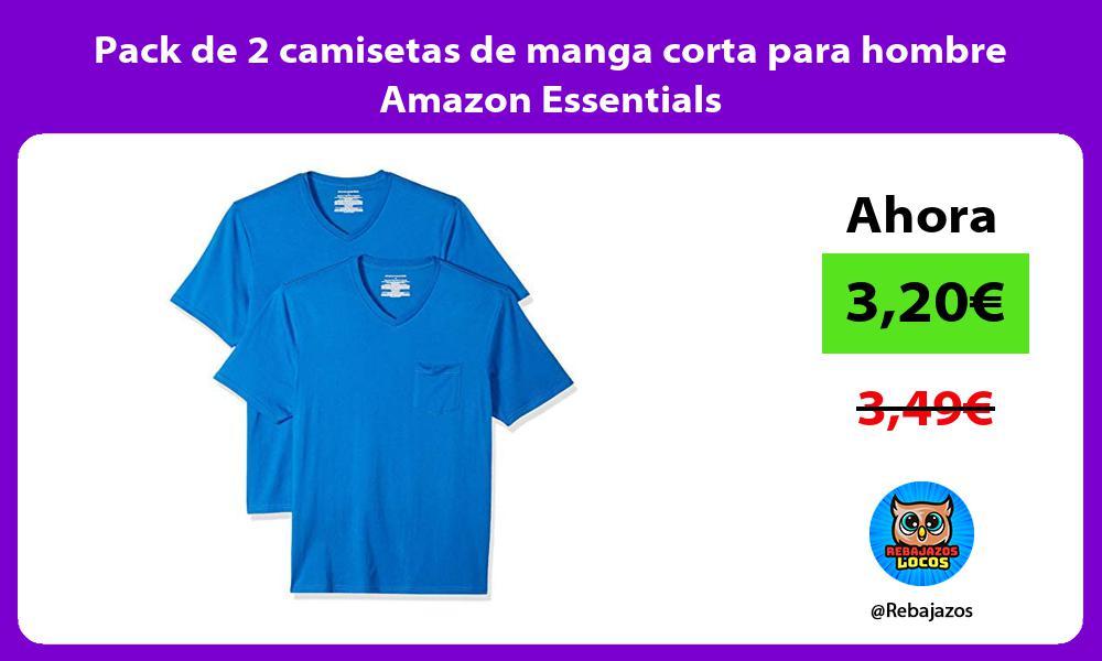 Pack de 2 camisetas de manga corta para hombre Amazon Essentials