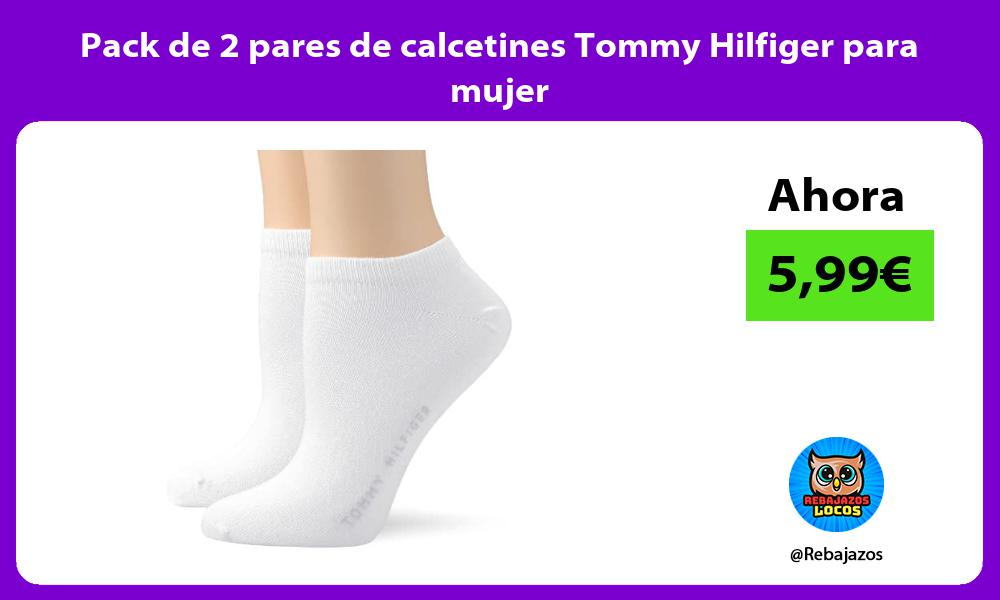 Pack de 2 pares de calcetines Tommy Hilfiger para mujer