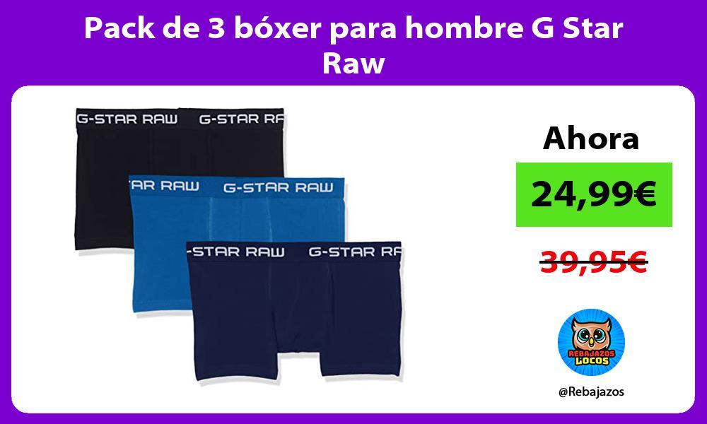 Pack de 3 boxer para hombre G Star Raw