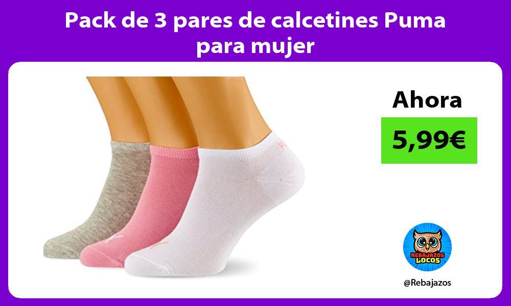 Pack de 3 pares de calcetines Puma para mujer