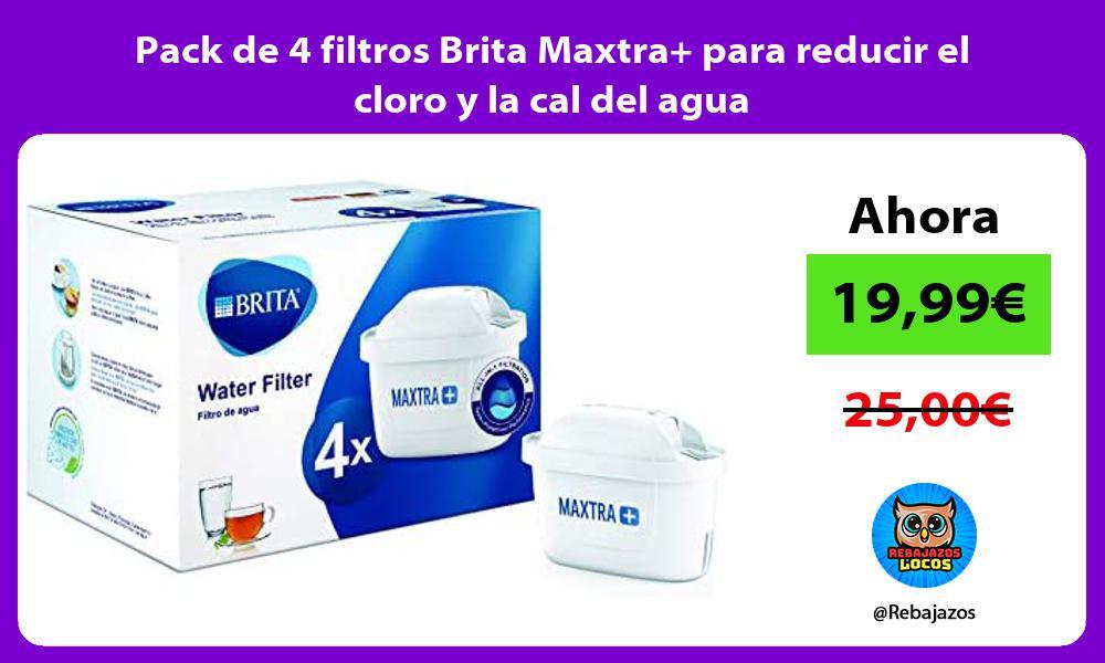 Pack de 4 filtros Brita Maxtra para reducir el cloro y la cal del agua