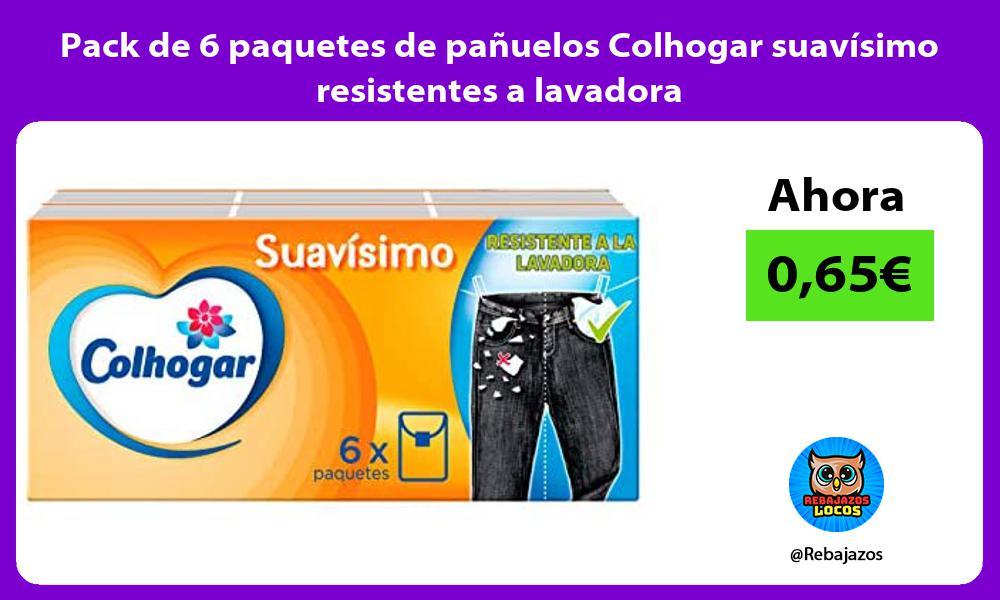 Pack de 6 paquetes de panuelos Colhogar suavisimo resistentes a lavadora