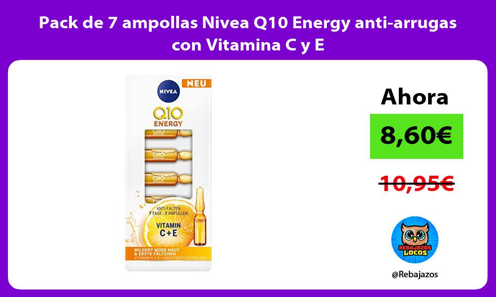 Pack de 7 ampollas Nivea Q10 Energy anti arrugas con Vitamina C y E