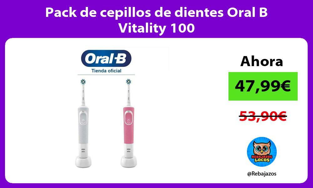 Pack de cepillos de dientes Oral B Vitality 100